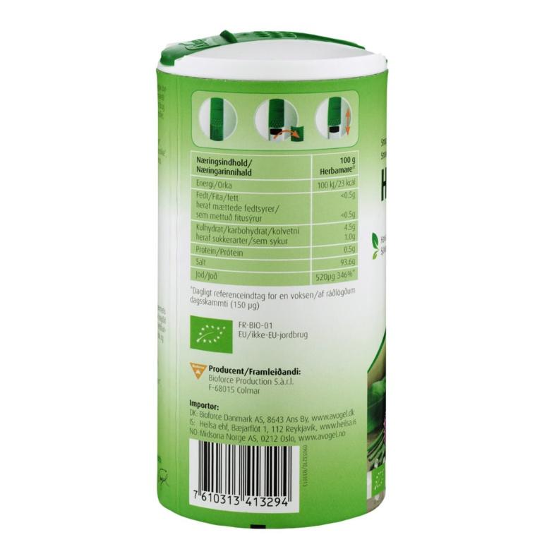 A. Vogel Herbamare Original 250 ml (bakside)