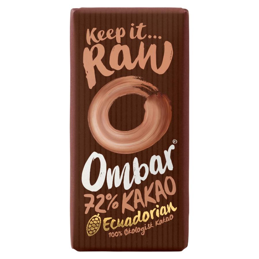 Produktbilde av Ombar 72% Rå Kakao Råsjokolade