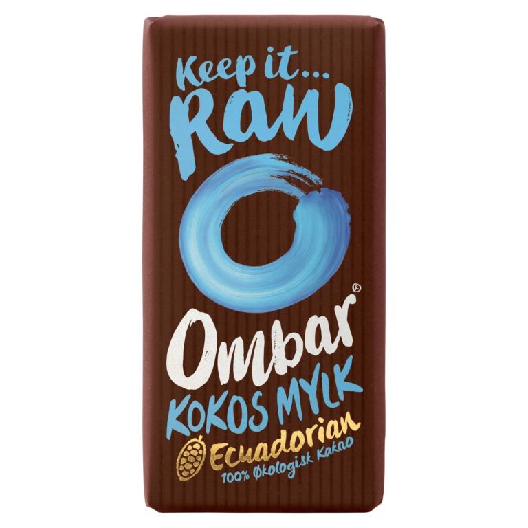 Produktbilde av Ombar kokos Melk Råsjokolade