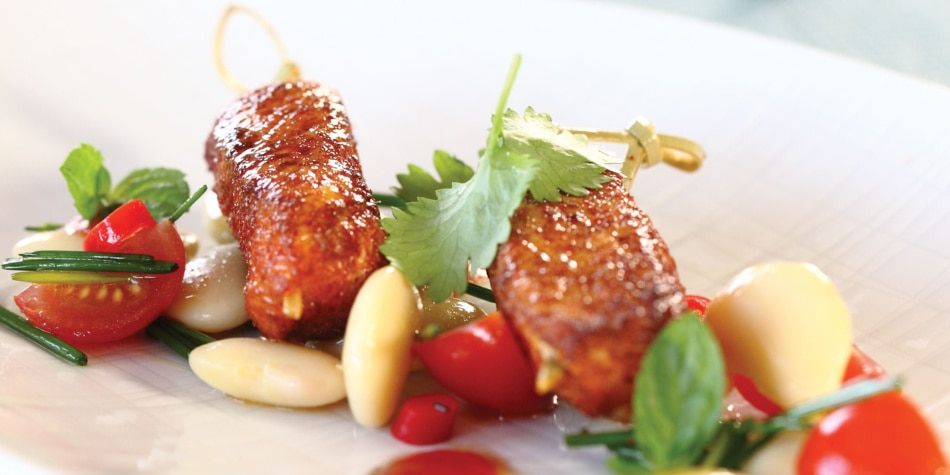 Chili-kylling med bønnesalat