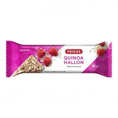 Friggs Quinoa og bringebær bar