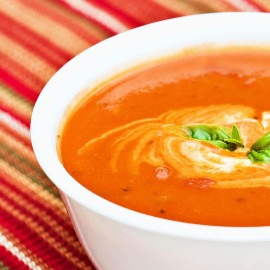 Økologisk tomatsuppe