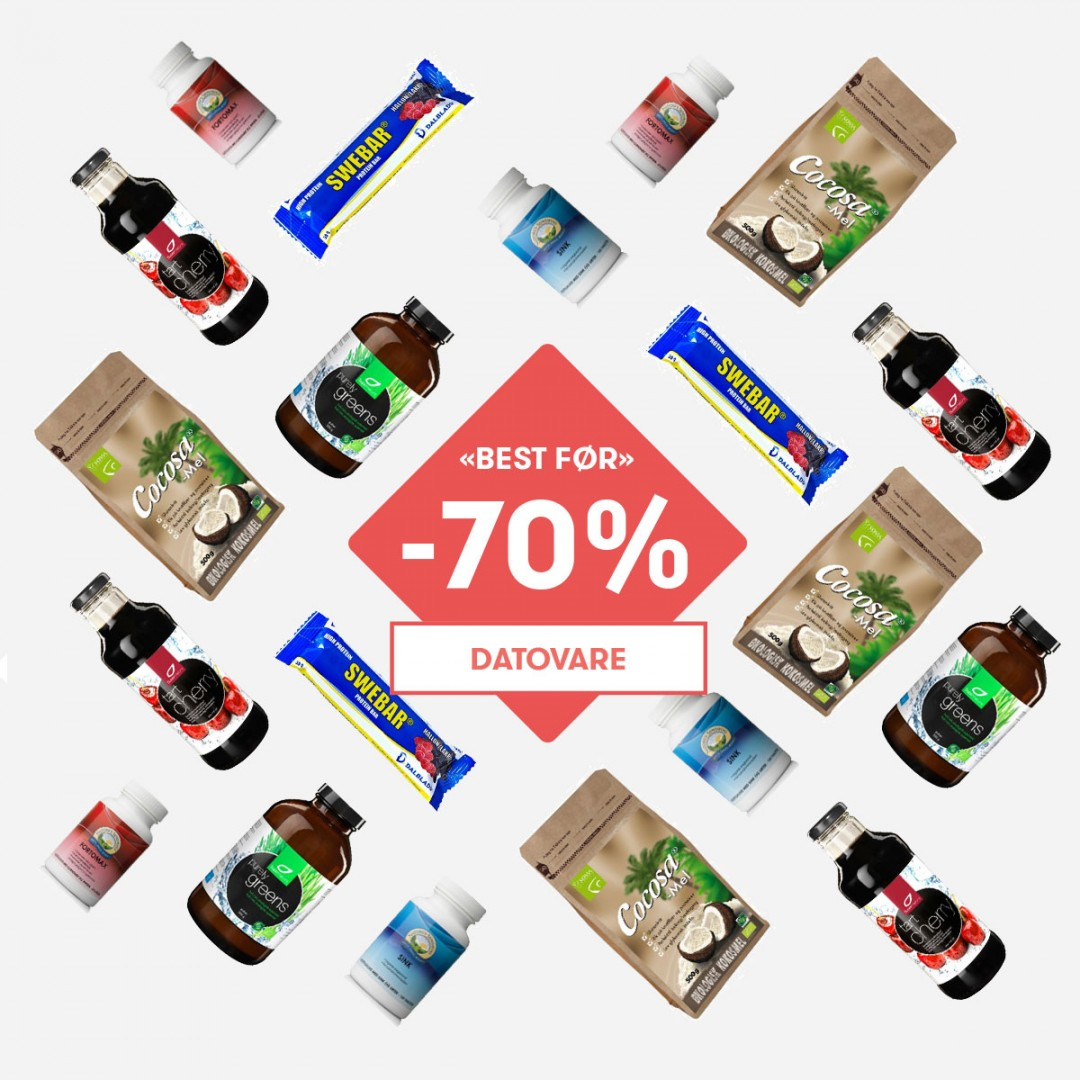 Collage av produkter på datovaresalg