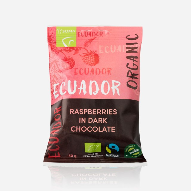 Ecuador Sjokoladetrukket Bringebær