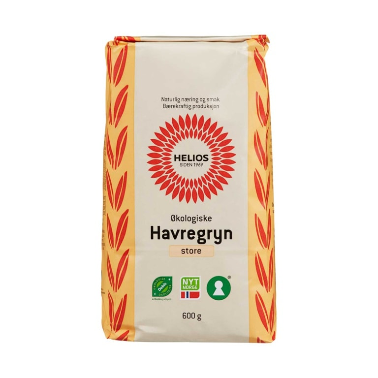 Helios Havregryn Store Økologisk