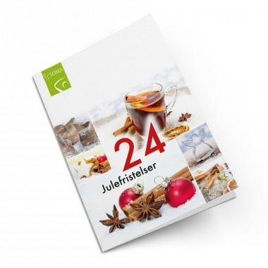 Forsiden av brosjyren 24 julefristelser