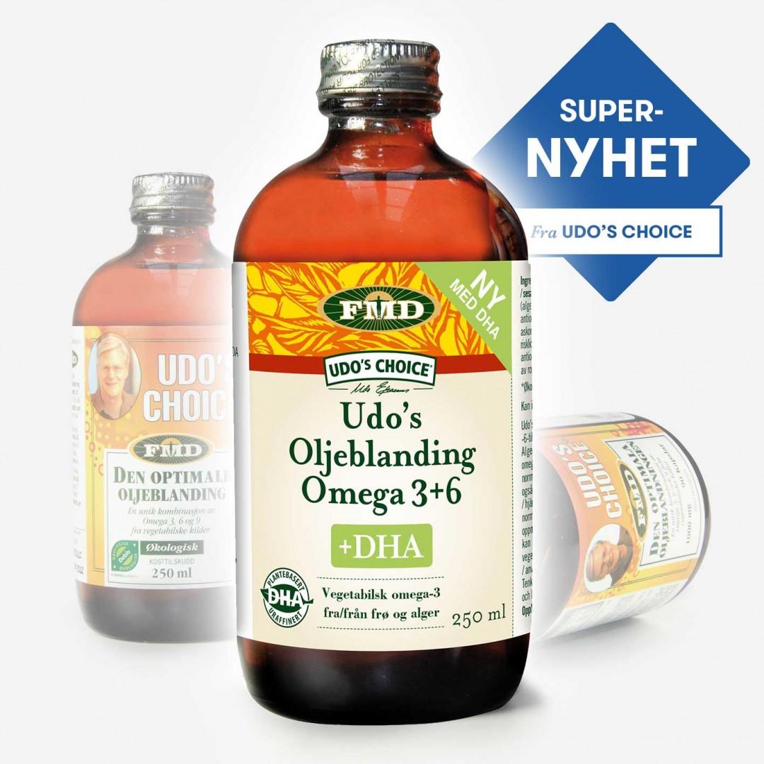 Udo's Choice +DHA Supernyhet