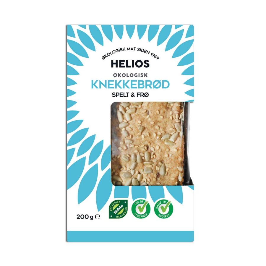 Helios Speltknekkebrød m/frø Økologisk