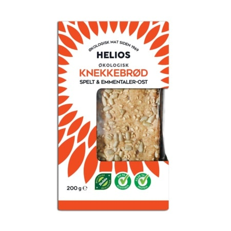 Helios Speltknekkebrød m/ost Økologisk