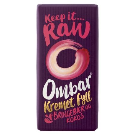 Produktbilde av Ombar Kremet Fyll Bringebær og Kokos