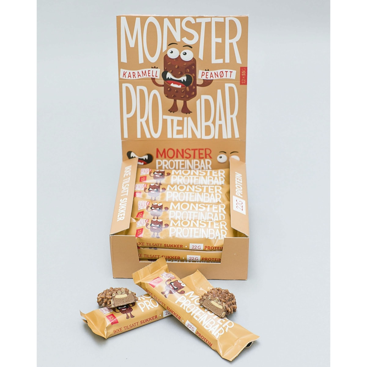 Monster-Karamell-Peanøtt-Proteinbar-d2